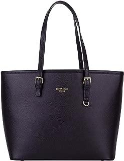 Womens Tote Bag Large Capacity PU leather Shoulder Bag Elegant Simple Retro Handbag for Ladies and Girls