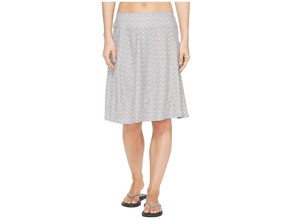 Prana Vendela Printed Skirt (Moonrock Compass) Women