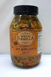 Enrico Formella | Hot & Spicy Muffaletta Olive Salad | Italian - New Orleans Style Olive Spread (32. oz)