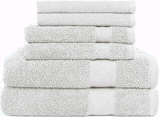 e3a8ce5475 SweetNeedle - Daily Use Set asciugamani a 6 pezzi, bianco - 2 asciugamani  da bagno