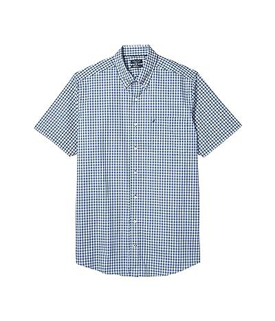 Nautica Big & Tall Big Tall Classic Fit Wrinkle Resistant Plaid Shirt (Blue) Men