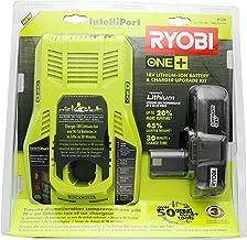 Ryobi P128 Upgrade Kit: Intelliport 18V Lithium Ion Battery Charger (P117) and Single 18V..