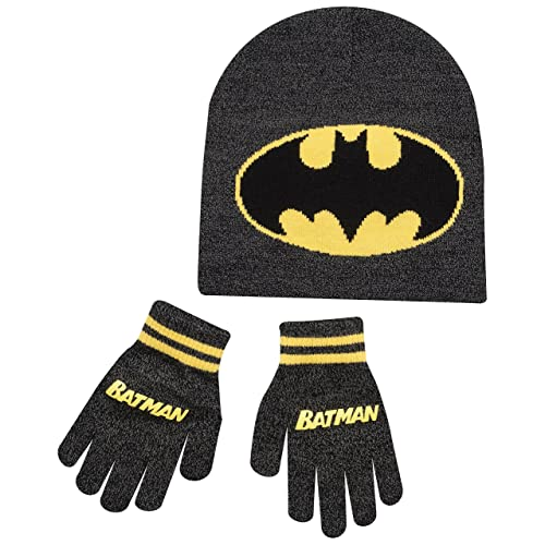 42659d7b593 Boys Kids Batman Winter Hat And Gloves Set