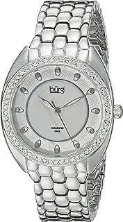 Burgi Women's Dial Alloy Band Watch - BUR145SS