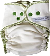 Sustainablebabyish (Sloomb) Overnight Bamboo Fleece Fitted (Medium (14-22 lbs), Sprout (Green))