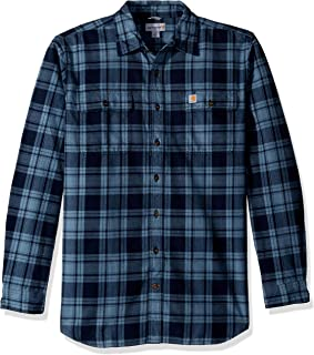 Carhartt Men's Big & Tall Hubbard Plaid Flannel Shirt