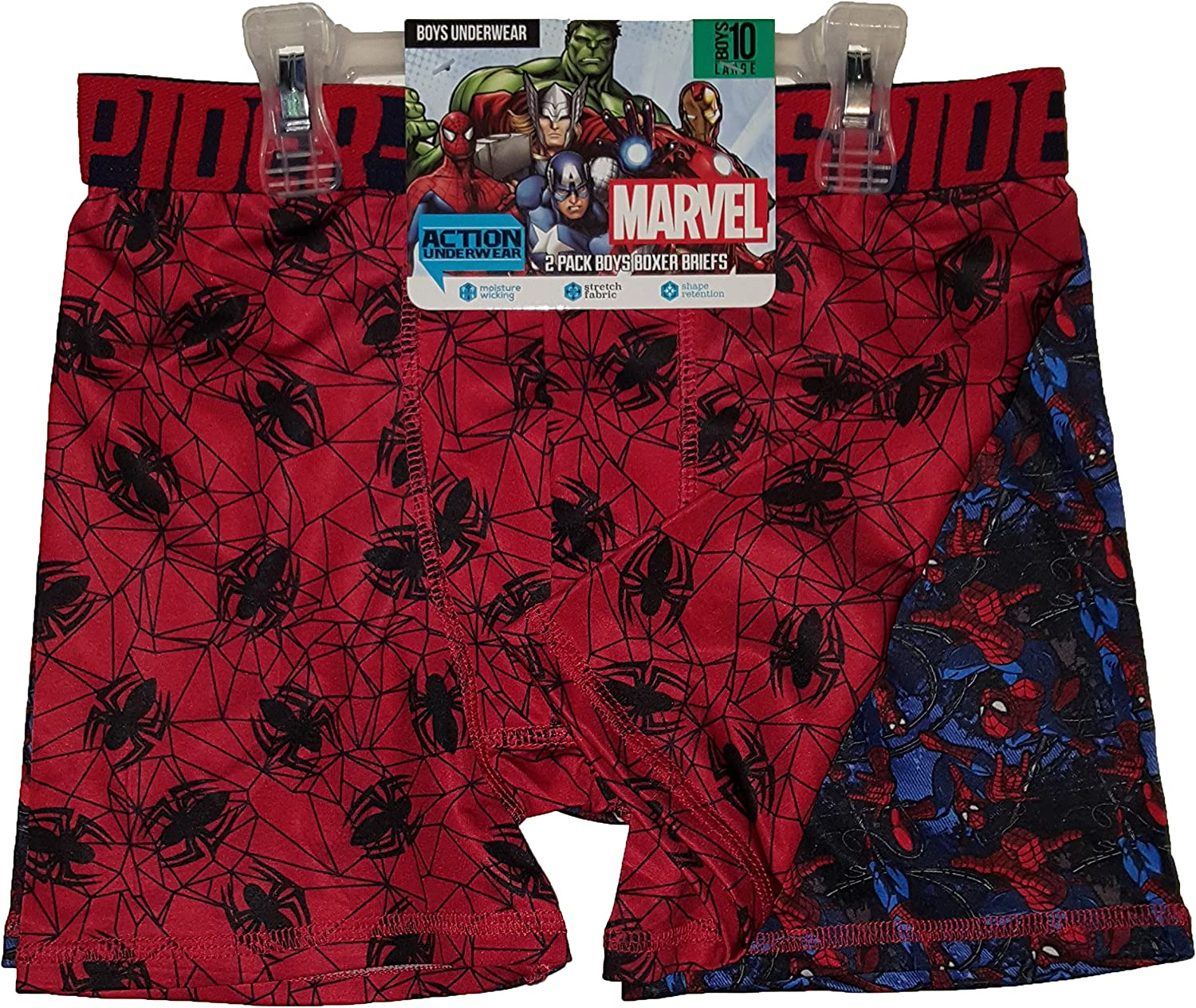 Marvel Comics Spider-Man 2 Pack Boxer Briefs - X-Small
