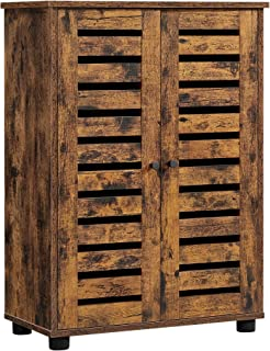 VASAGLE Meuble de rangement, Armoire salle de bain, Placard, Buffet, avec 2 portes persiennes, 2 planche réglable en haute...