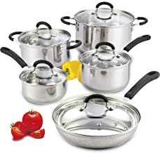 Cook N Home 10-Piece Stainless Steel Cookware Set