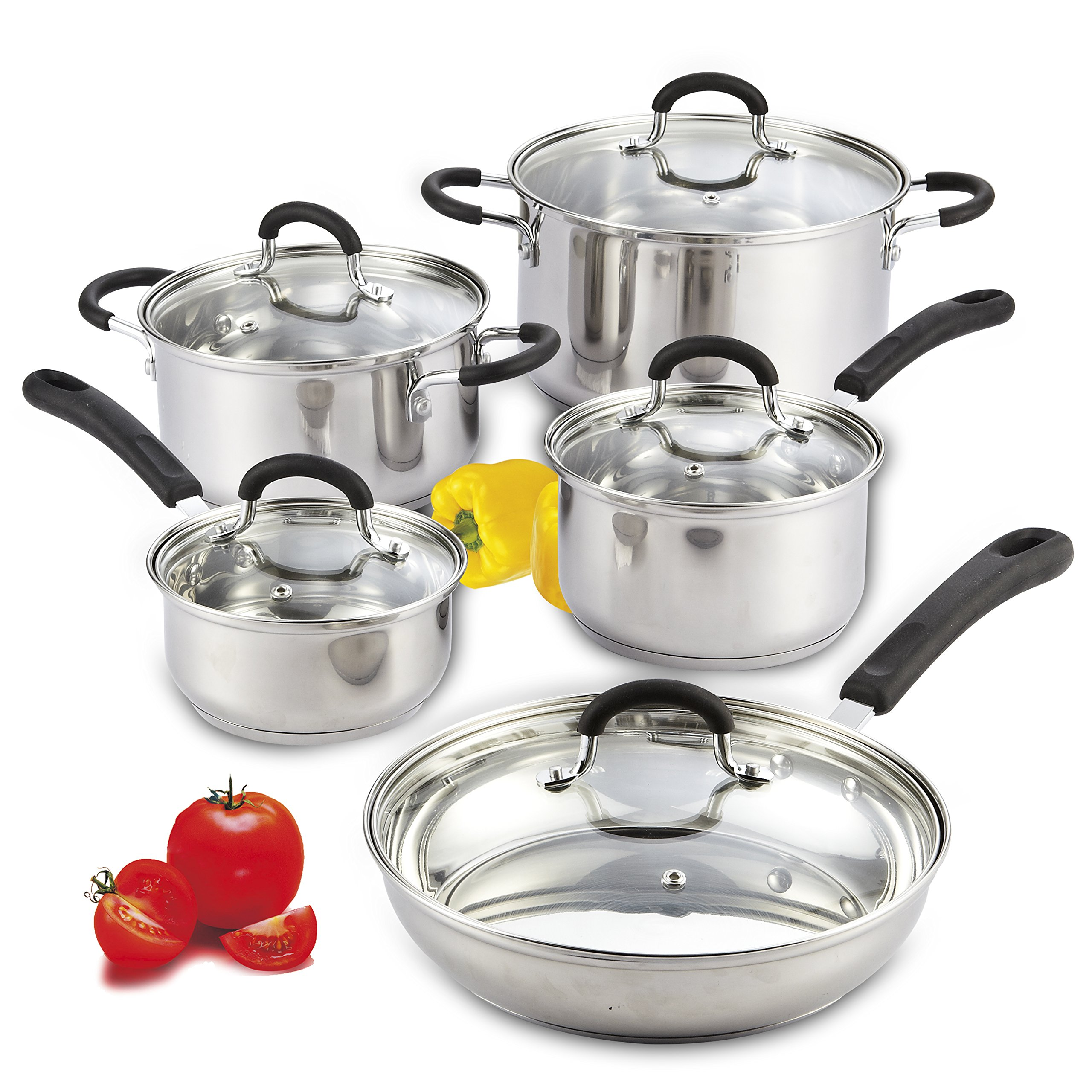 Cook Home 10 Piece Stainless Cookware