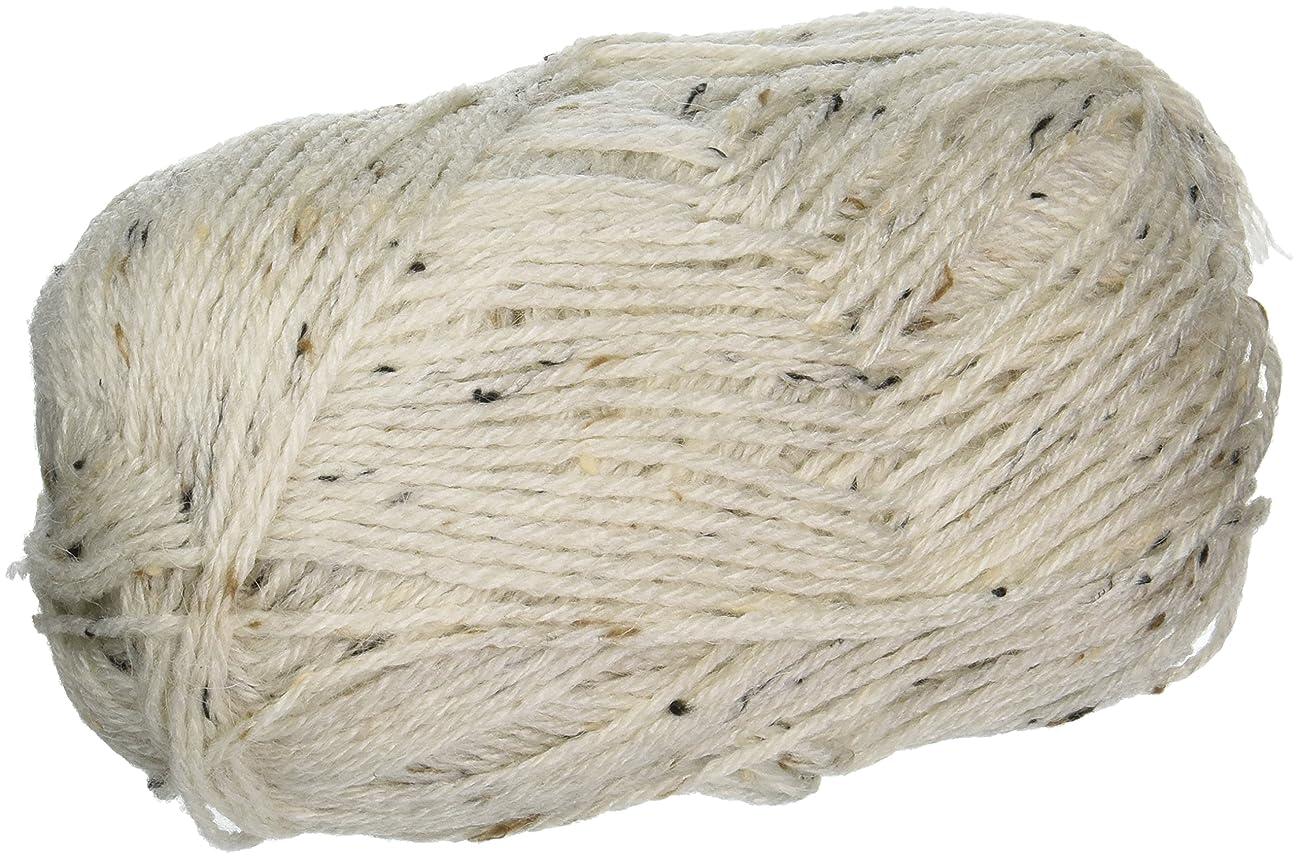 Mary Maxim Y083-300 Natural Alpaca Tweed Yarn, Raw Cotton