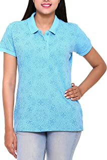 Colors & Blends - Women's Cotton-Lycra Polo T-Shirt