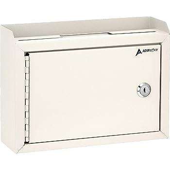 "Adir Corp. Multi Purpose Medium Size Suggestion Box 9.75"" x 7"" x 3"" (White)"