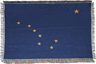 The Northwest Company Alaska State Flag Woven Tapestry Throw Blanket, 48