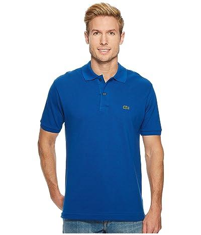 Lacoste Short Sleeve Classic Pique Polo Shirt (Electric) Men