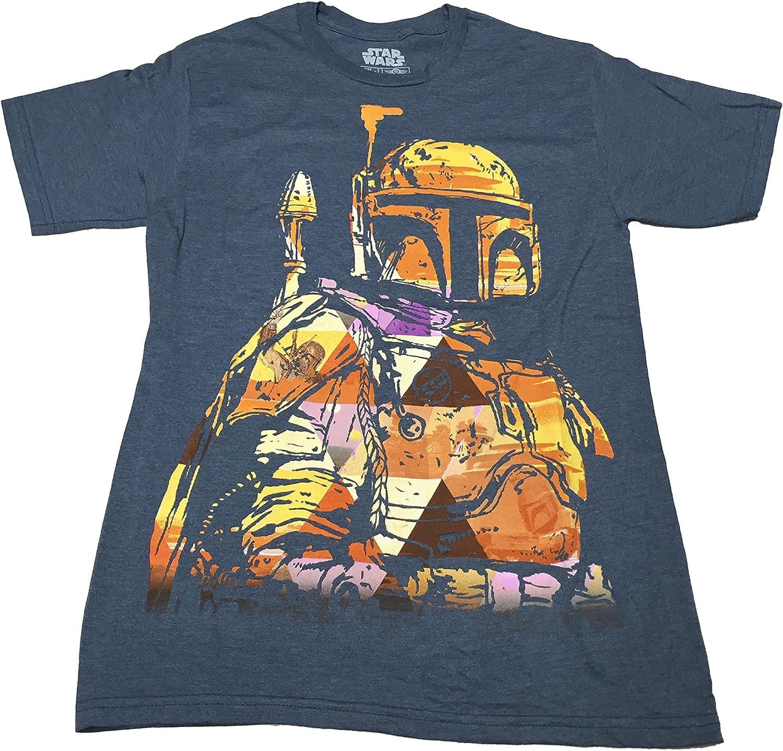 Star Wars Men/'s Boba Fett  Mandalorian Bounty Hunter T-shirt