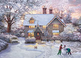 Thomas Kinkade Christmas at Gingerbread Cottage Puzzle - 1000Piece