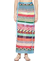 Mary Katrantzou - Evaris Skirt Fira Stripe Knit Cover-Up