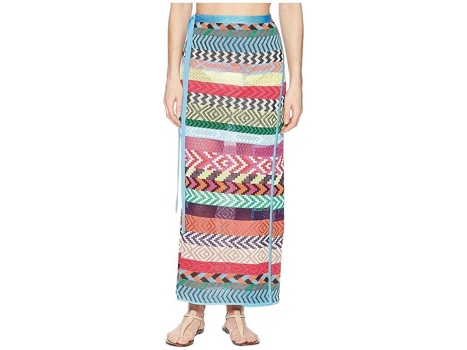 Mary Katrantzou Evaris Skirt Fira Stripe Knit Cover-Up (Multi) Women