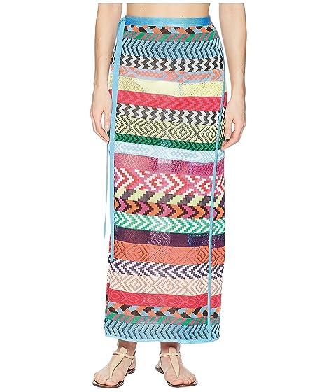 3303ac9ece Mary Katrantzou Evaris Skirt Fira Stripe Knit Cover-Up at Luxury ...
