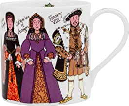 Alison Gardiner Famous Illustrator - Henry VIII and His Six Wives Fine Bone China Coffee Cup and Tea Mug - Premium Quality and Detail