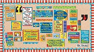 Eureka Dr. Seuss Motivational Bulletin Board and Classroom Decorations for Teachers 18'' x 0.1'' x 28'', 61pc