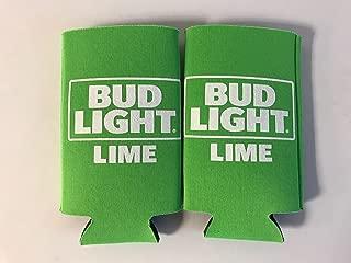 Bud Light Lime Retro Design Beer Can Cooler - 2 Pk