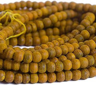 7mm Turmeric Haldi Beads (5 Strands)
