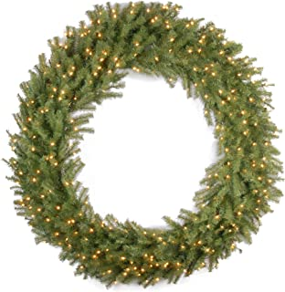 National Tree 60 Inch Norwood Fir Wreath with 300 Clear Lights (NF-60WLO)