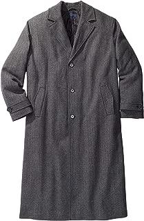 Men's Big & Tall Wool-Blend Long Overcoat