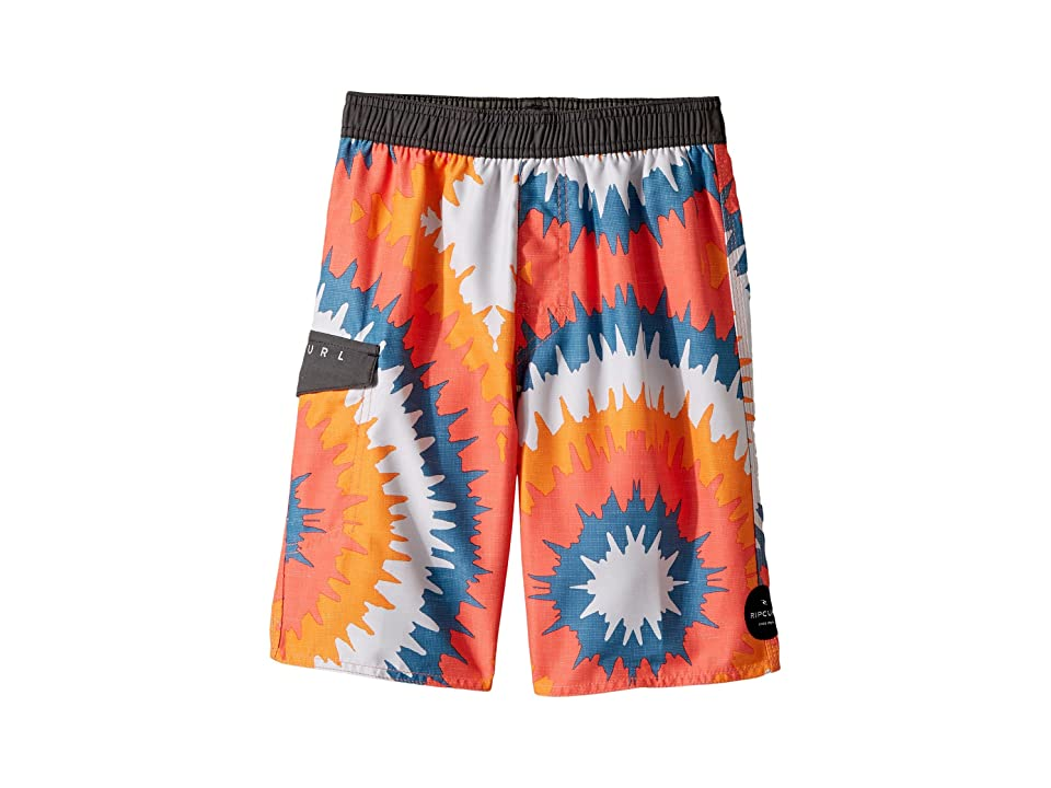 Rip Curl Kids Visions Volley Boardshorts (Big Kids) (Red) Boy