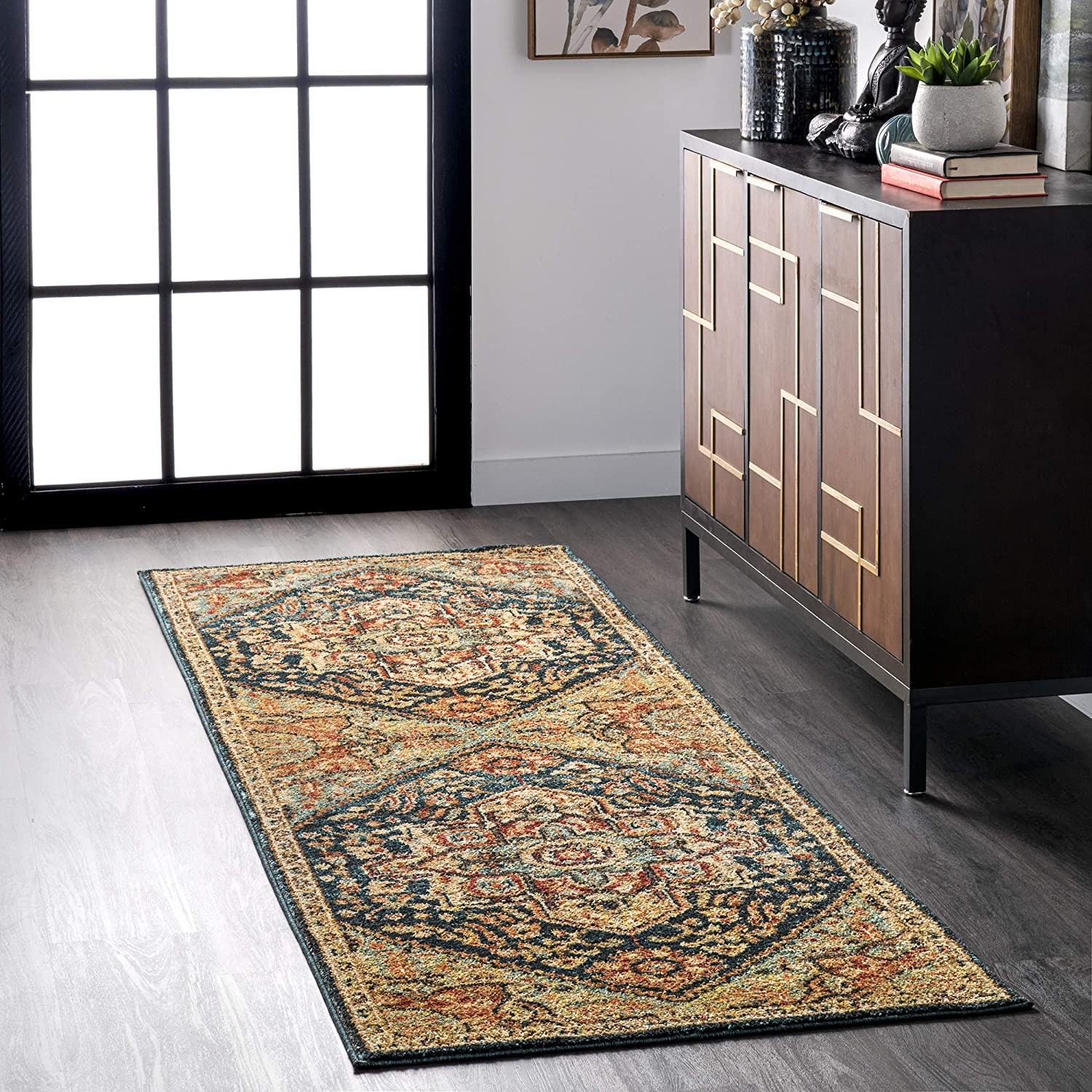 nuLOOM Tabetha OFFicial site Our shop OFFers the best service Tribal Medallion Runner Rug x Green 8' 8