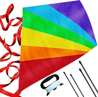 aGreatLife Boys Diamond Kite Easy Flyer - Large - 47 Inch Rainbow Kite Best for Kids and Adults - Easy to Fly Even at The ...
