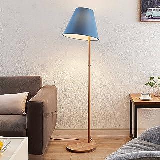 Lampadaire Tissu 'Jinda' (Scandinave) en Bleu en Textile e. a. pour Salon & Salle à manger (1 lampe,à E27, A++) de Lucande...