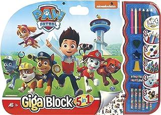 Cefa Toys- Paw Patrol Disney Super Block CREA-dibuja, Multic