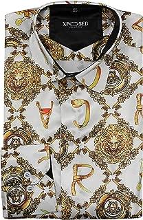 Da Uomo A Fiori Con Motivo Floreale Paisley Regular Fit 100/% cotone Camicie S-4XL