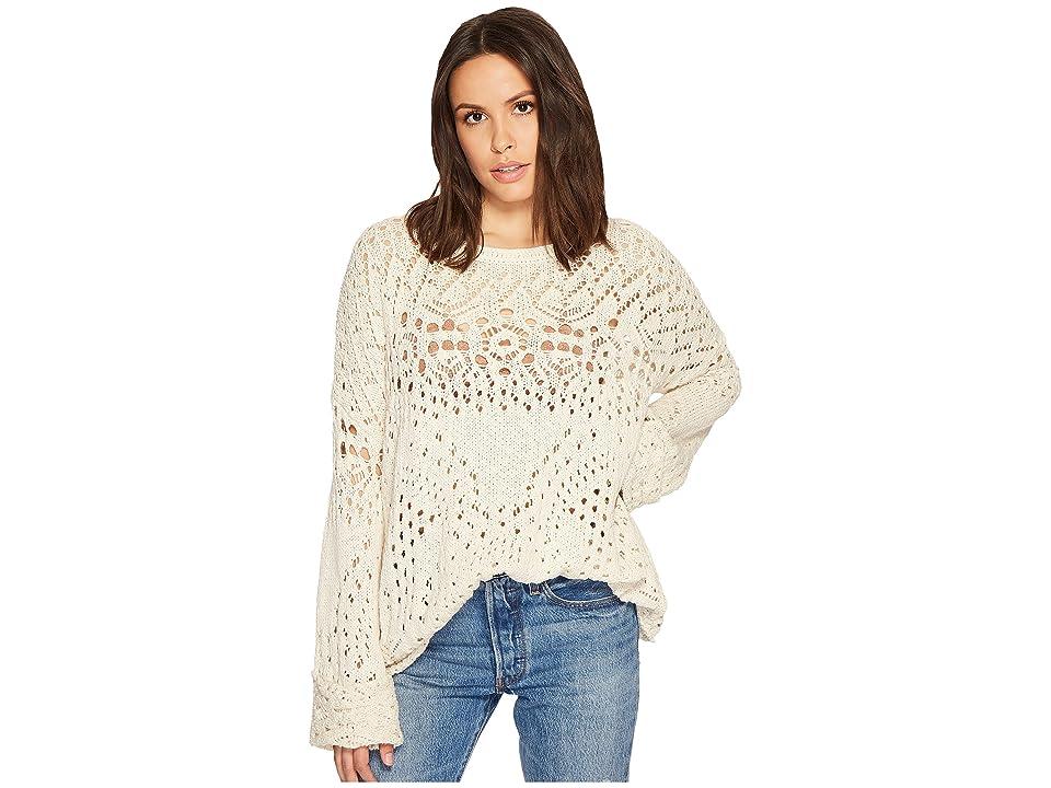 Free People Traveling Lace Sweater (Ivory) Women
