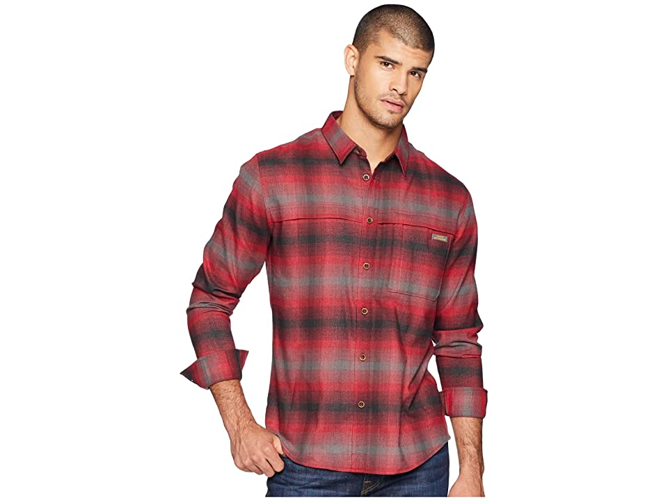 Quiksilver Waterman Thermo Hyper Flannel Long Sleeve Shirt (Rio Red) Men