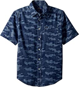 Camo Cotton Chambray Shirt (Big Kids)