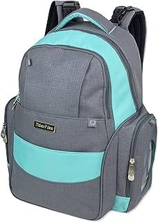 Fisher-Price Diaper Bag Backpack (Grey/Aqua)