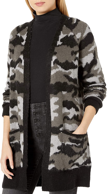 Lucky Brand Women's Camo Cardigan Sweater