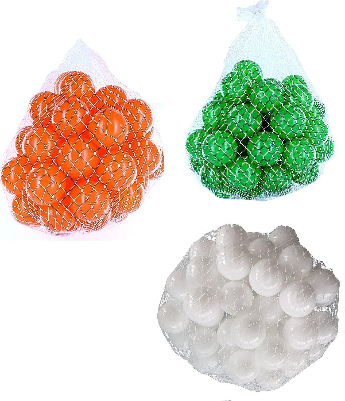 en promociones de estadios Pelotas para pelotas baño variadas Mix con con con blancoo, verde y naranja Talla 6000 Stück  el más barato