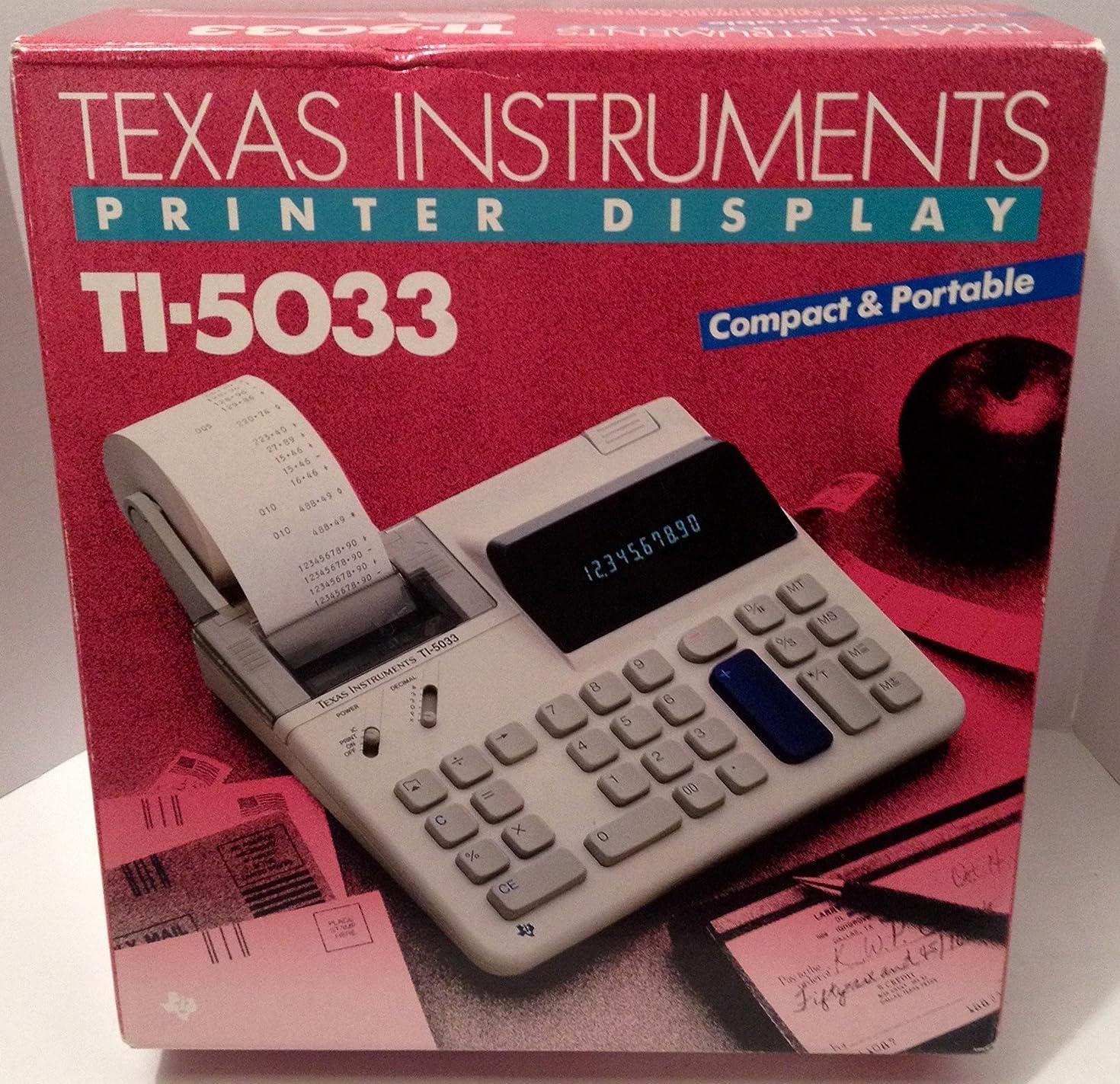 Texas Instruments TI-5033 Printing Calculator