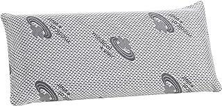 Almohada de viscoelástica 150 cm, con Carbono Activo Que Mejora el sueño, con partículas de Carbono Que Evita los Malos olores y el Exceso de sudoración | Se Adapta Perfectamente a Nuestro Cuerpo