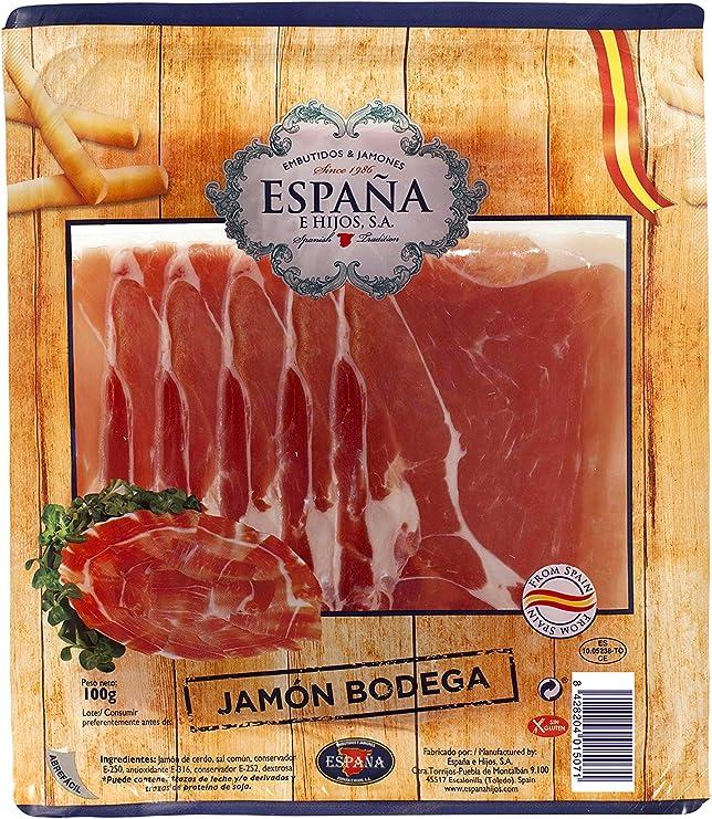 España Lonchas de Jamón Serrano - 100 gr: Amazon.es ...