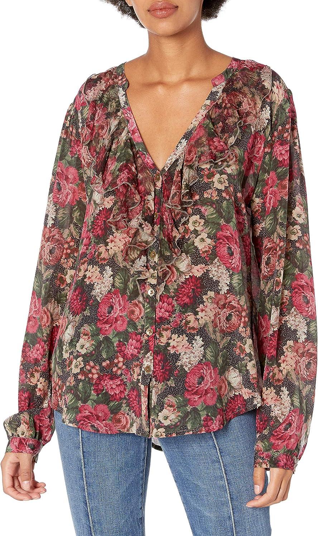 Love & Liberty Women's Silk Button Down Shirt