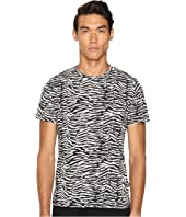 Slim Fit Zebra Vibe Printed T-Shirt
