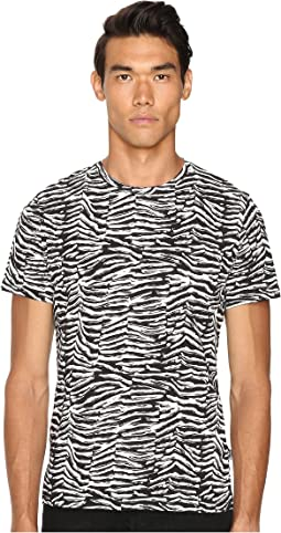 Slim Fit Zebra Vibe Printed T-Shirt
