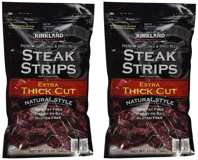 Direct store Kirkland Signature Premium Beef Steak Strips Oz Latest item Jerky 12 2PAK