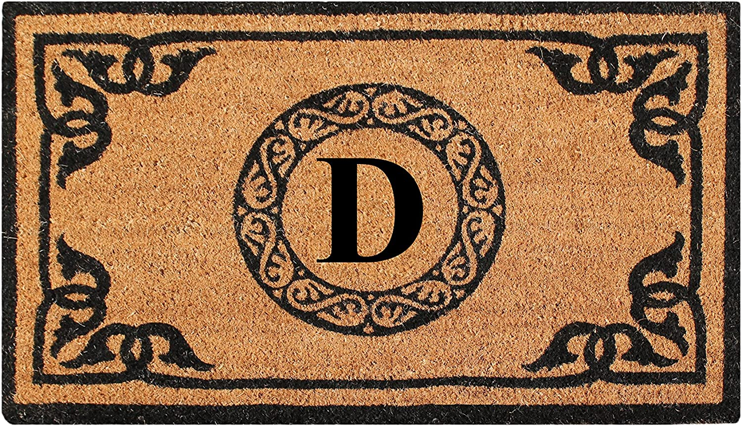 A1 HOME COLLECTIONS PT3006D First Impression Hand Crafted by Artisans Geneva Monogrammed Entry Doormat, 24 X39